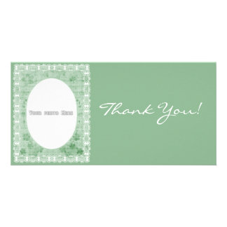 Thank You Flowers Lace Photo Card Template