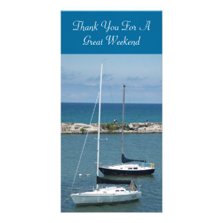 Thank You For A Great Weekend, TEYoung Custom Photo Card