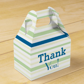 Thank You! for all Occasions - Green Blue Stripes Favour Boxes