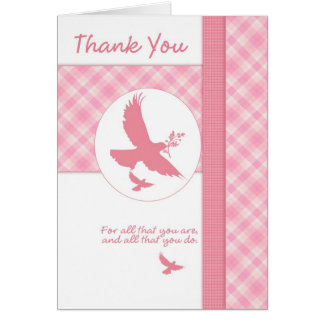 Thank you for all that you do with dove greeting card