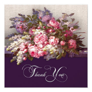 """Thank You for Attending Anniversary Party Cards 5.25"""" Square Invitation Card"""