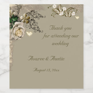 Thank You For Attending Our Wedding Wine Label