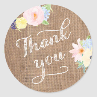 Thank you for Baptism or Birthday Party Favors Classic Round Sticker