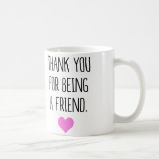 Thank you for being a friend coffee mug