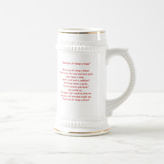 Thank You For Being A Friend - Stein Beer Steins