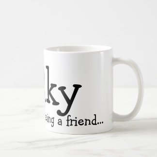 Thank you for being a friend..., Wilky Basic White Mug