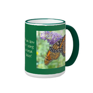 Thank You for being a Great Sister! Coffee Mugs