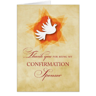 Thank You for being My Confirmation Sponsor, Dove Card
