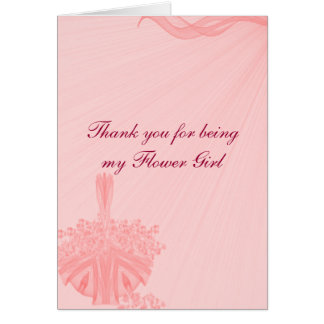 """""""Thank You for Being My Flower Girl"""" Card"""