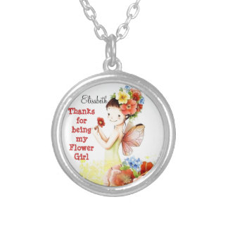 Thank you for  being my Flower Girl Necklace
