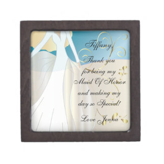 Thank You for Being my Maid Of Honor Gift Box! Premium Keepsake Box