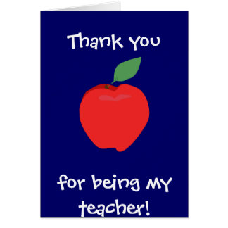 Thank You For Being My Teacher! Card