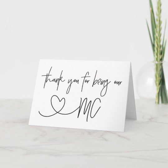 Thank You Wedding Cards.Thank You For Being Our Mc Wedding Card