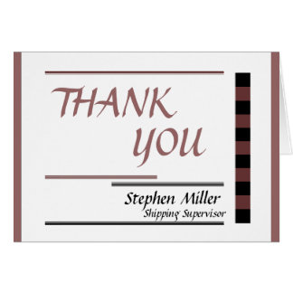 Thank You for Business Use Card