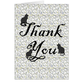 Thank You for Cat Sitter Caregiver Card