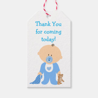 Thank you for Coming Blue Baby Shower Gift Tag