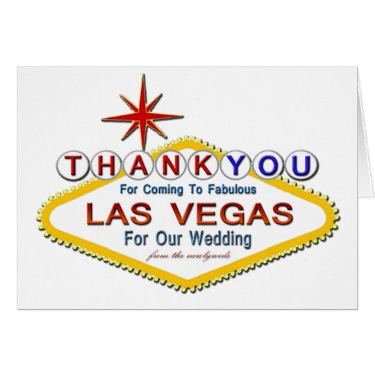 Thank you for coming Las Vegas NewlyWeds Card