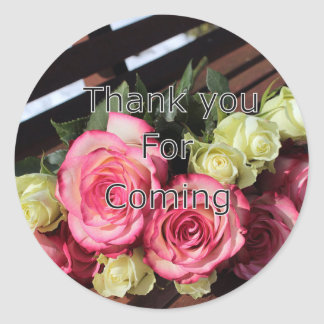 Thank you for coming sticker