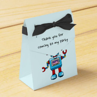 Thank you for coming to my party (toy robot) favour box