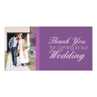 Thank You for coming to our wedding personalised Customised Photo Card