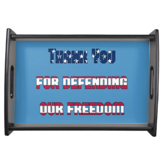 Thank You For Defending Our Freedom Patriotic Serving Tray
