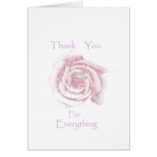 Thank you for Everything,Roses Greeting Card