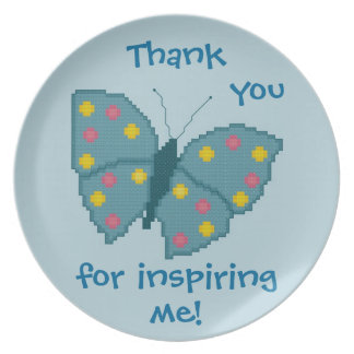 Thank you for inspiring me! Butterfly Plate