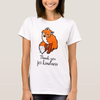 Thank you for kindness red fox funny elegant T-Shirt