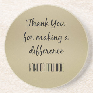 Thank you for Making a Difference Coasters