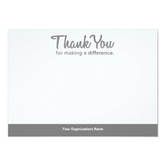 """Thank you for making a difference"" notecard"