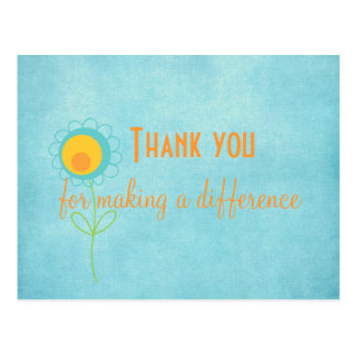 Thank you for Making a Difference Quote Card Postcard