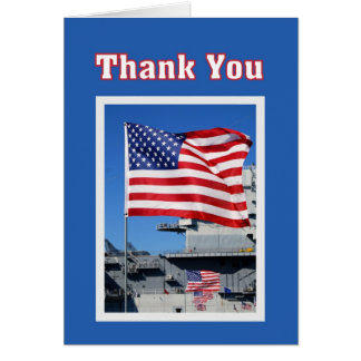 Thank You for Military Service Flags Greeting Card