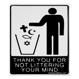Thank You for not Littering Your Mind Poster