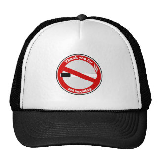 Thank you for not smoking trucker hat