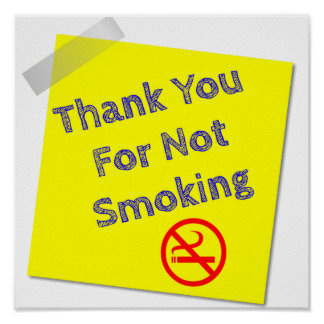 Thank You for Not Smoking Poster