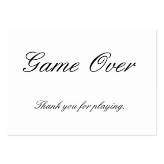 Thank You for Playing Card Large Business Cards (Pack Of 100)