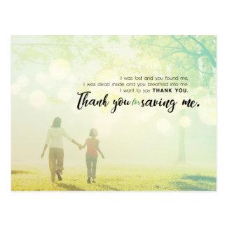 Thank you for saving me postcard