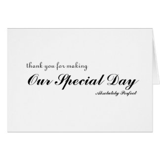 Thank you for special day greeting card