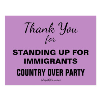 Thank You For Standing Up for Immigrants Resist Postcard