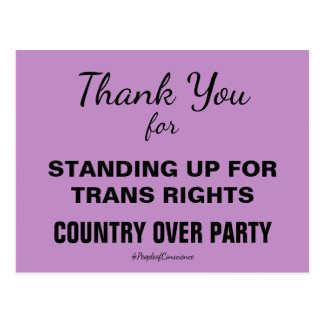 Thank You For Standing Up for Trans People Resist Postcard