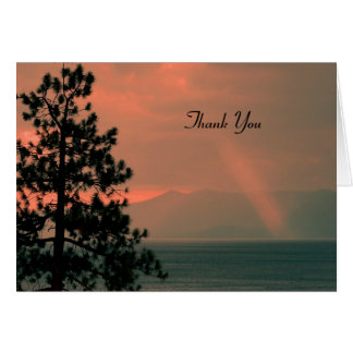 Thank You For Sympathy Note Card, Light Beam Card
