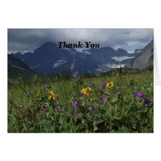 Thank You For Sympathy Note Mountain Wildflowers Card
