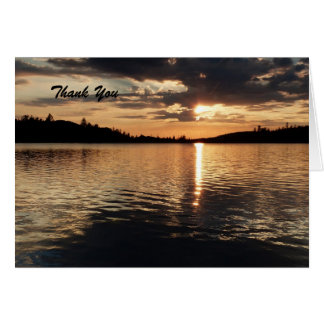 Thank You For Sympathy Note, Sunset at Lake Card