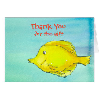 Thank You For The Gift Yellow Tang Fish Card