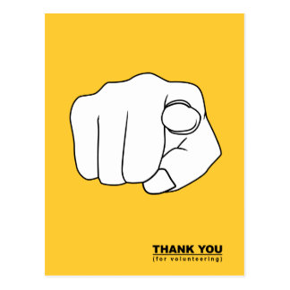 thank you for volunteering hand illustration postcard