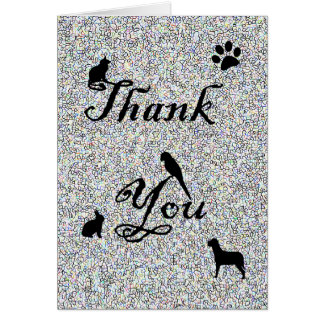 Thank You for Your Business Animal Clinic Vet Card