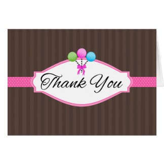 Thank You For Your Business Cake Pops Note Cards