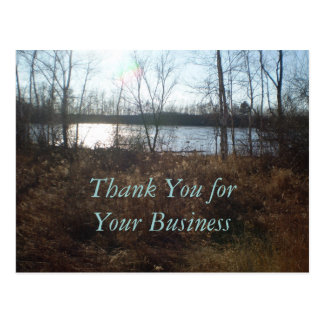 Thank You for Your Business Cloudy Sunset Postcard
