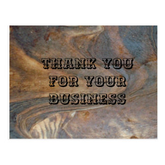 Thank You for Your Business Wooden Grain Design Postcard