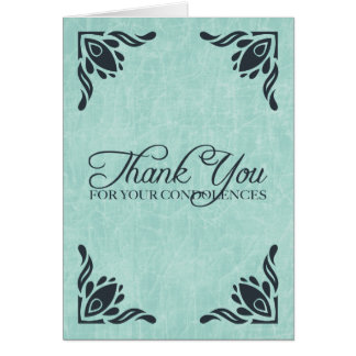 thank you for your condolences note card